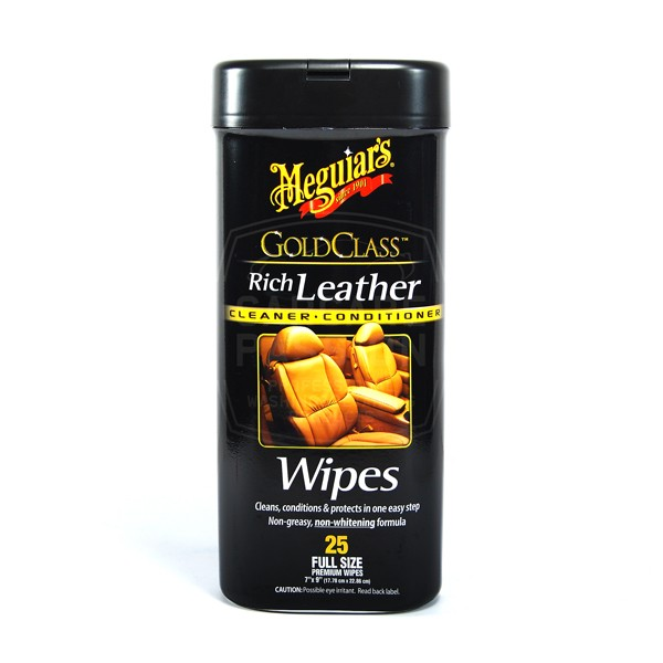 meguiar 39 s leather cleaner conditioner wipes car care passion. Black Bedroom Furniture Sets. Home Design Ideas