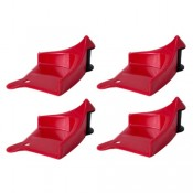CHEMICAL GUYS DETAIL GUARDZ HOSE GUIDE RED (4 PACK)
